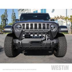 Westin - Westin 59-80085 WJ2 Stubby Front Bumper w/LED Light Bar Mount - Image 11